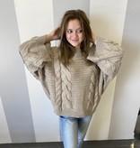 Lt. Grey Oversized Bell Sleeve Sweater