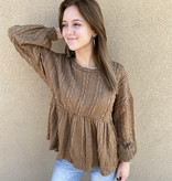 All About Me LS Sweater Taupe