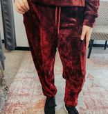 Burgundy Velour Bottoms