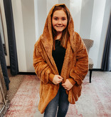 Camel Oversized Fur Jacket