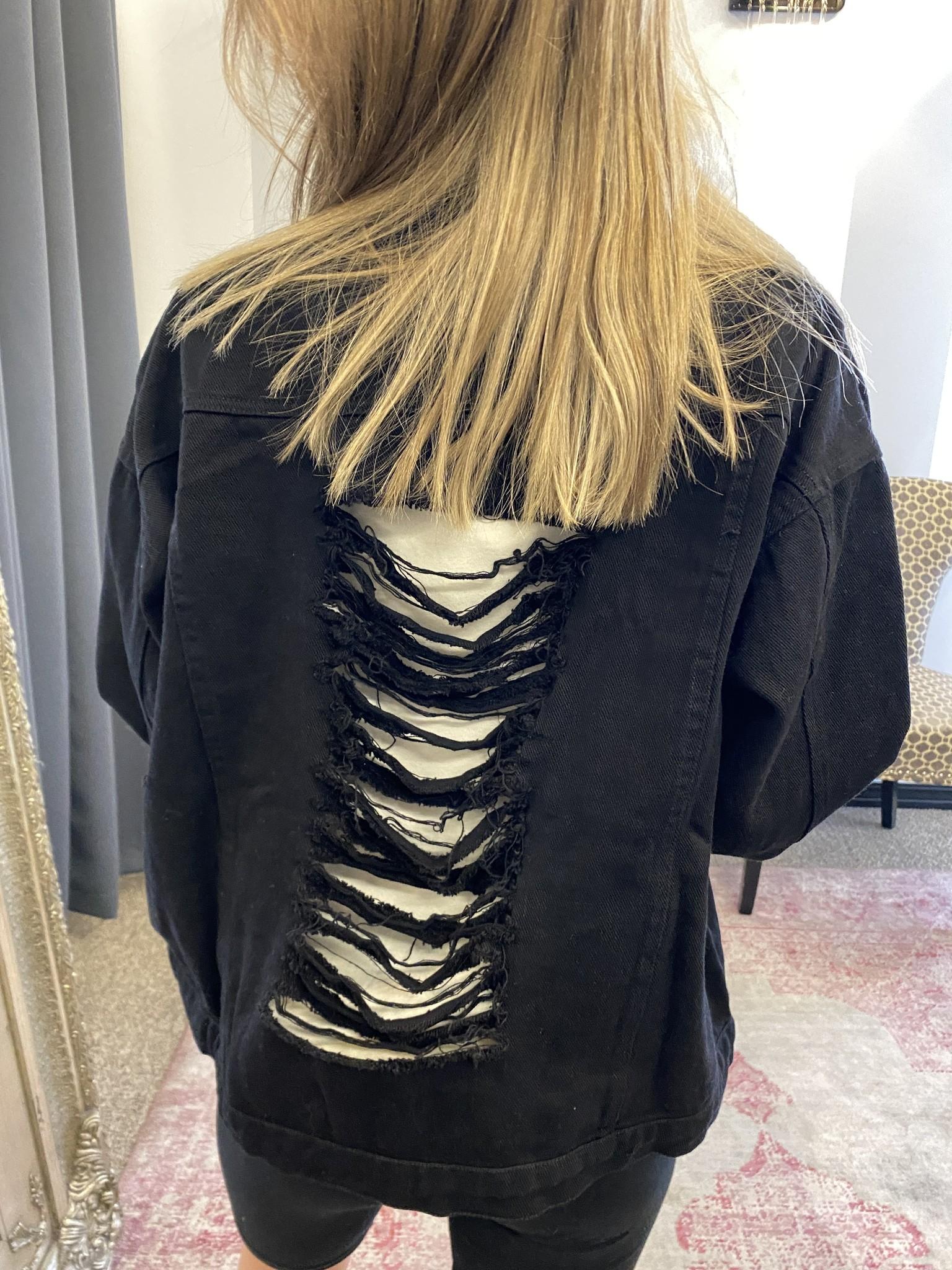 Black Distressed Jacket