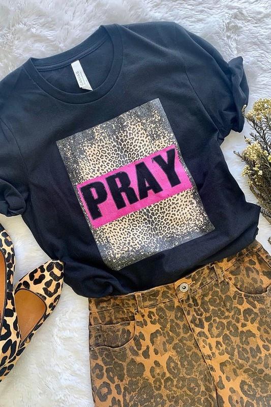Black SS Pray Tee