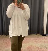 Ivory Plus Drop Shoulder Hi-Low Top
