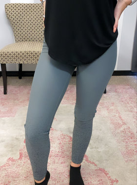 DejaVu/Black high waisted leggings with foil dots