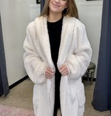 Ivory Oversized Fur Jacket Plus Size