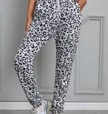 White Leopard Jogger Pants