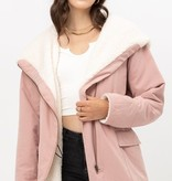 Pink Fleece Lined Winter Jacket