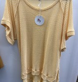 Honey Waffle Knit SS Top