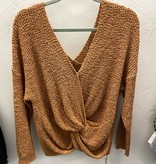 Butter Rum Knotted Back Sweater