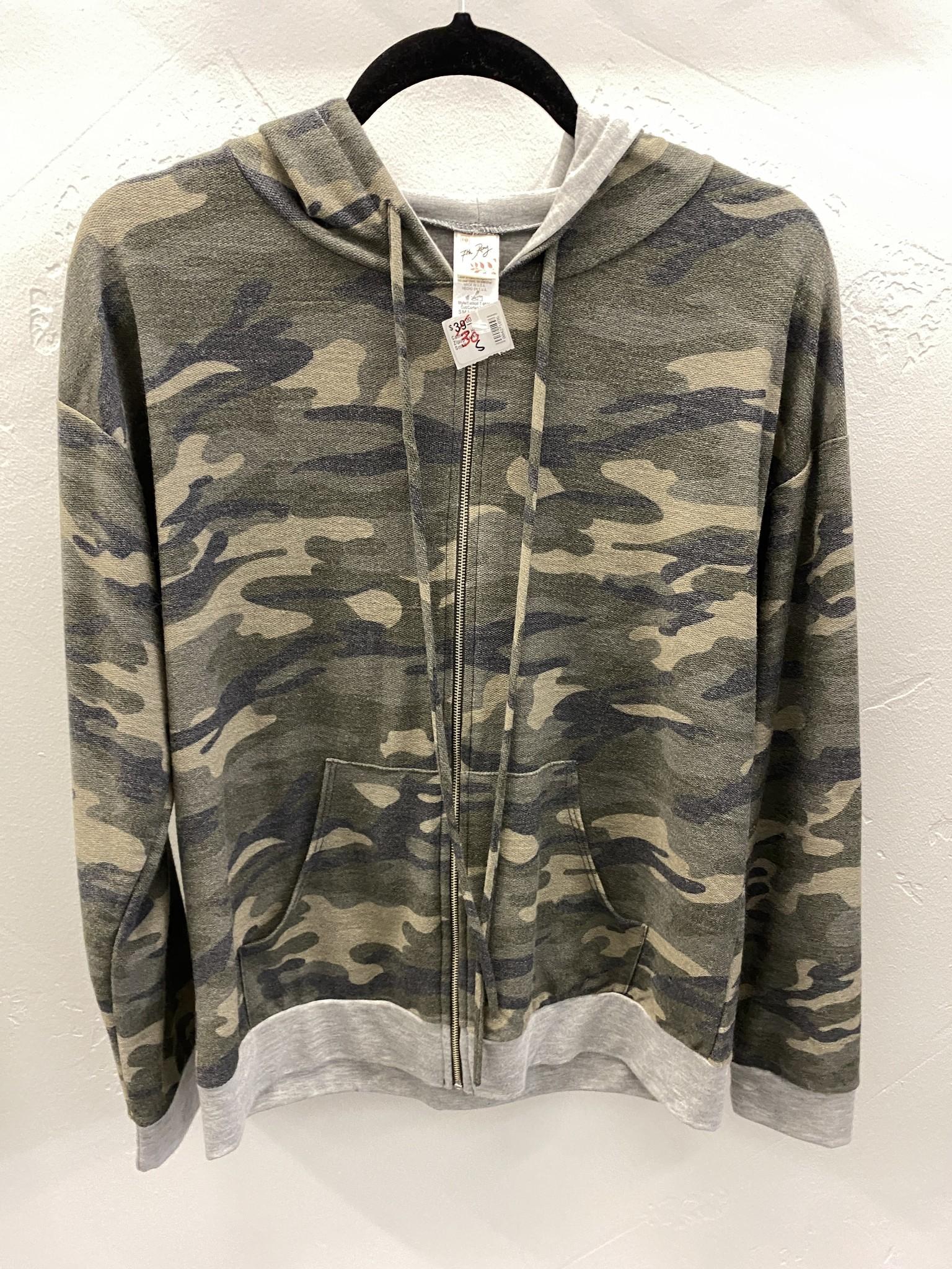 Camo LS Hooded Zipup Jacket