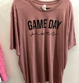 Game Day Vibes Mauve T-shirt