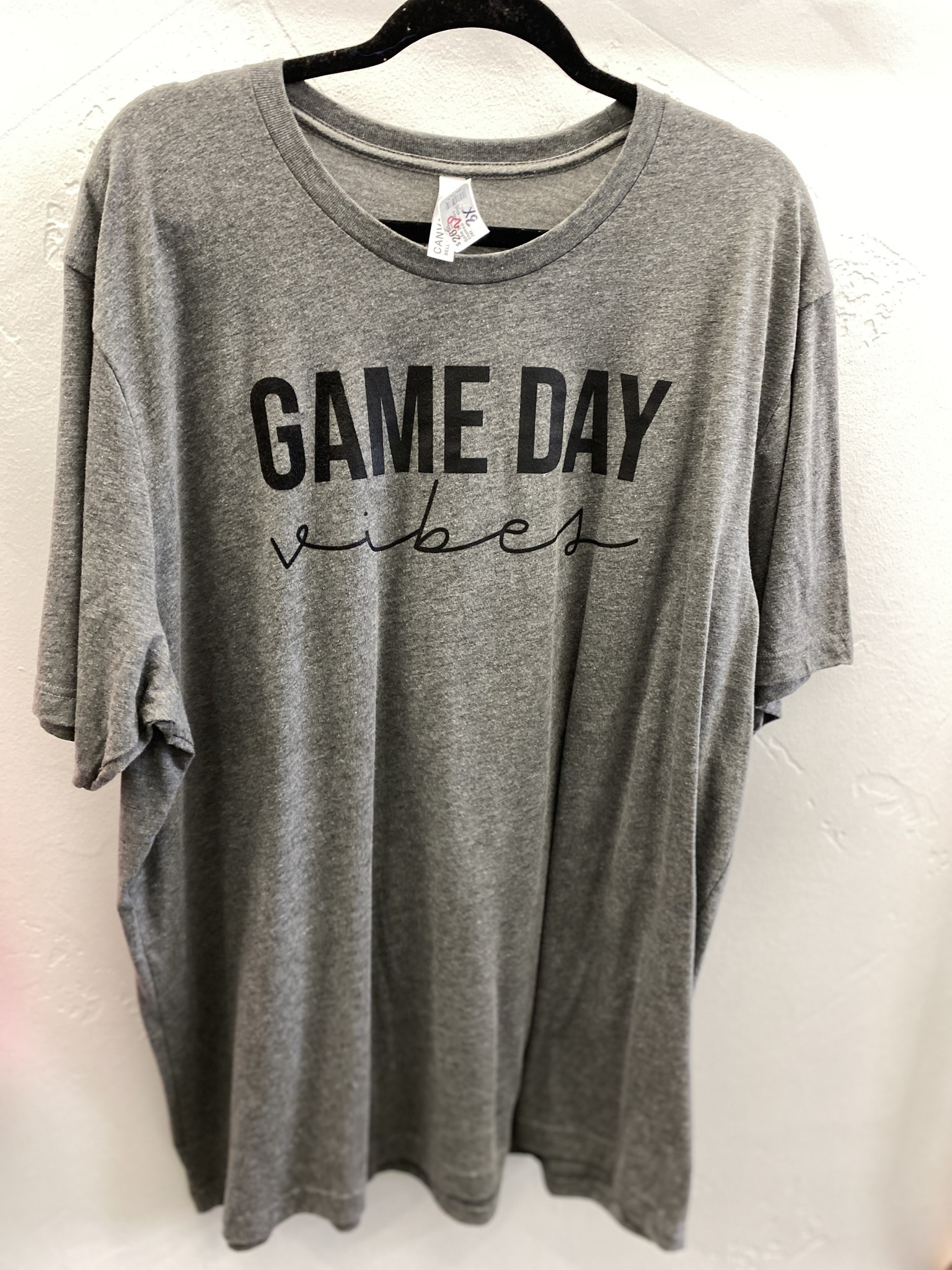 Game Day Vibes Charcoal T-shirt