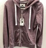 Vintage violet zip front hoodie