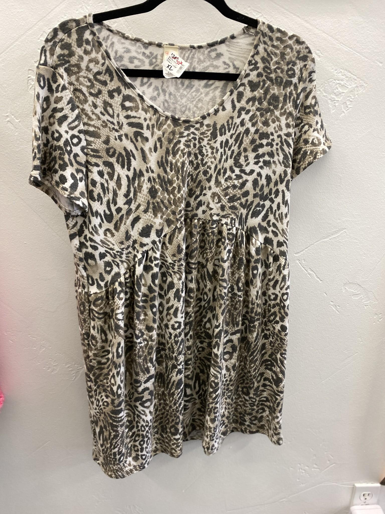 Mocha Leopard Baby T-Shirt Dress
