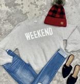 Grey Weekend Furry Sweater