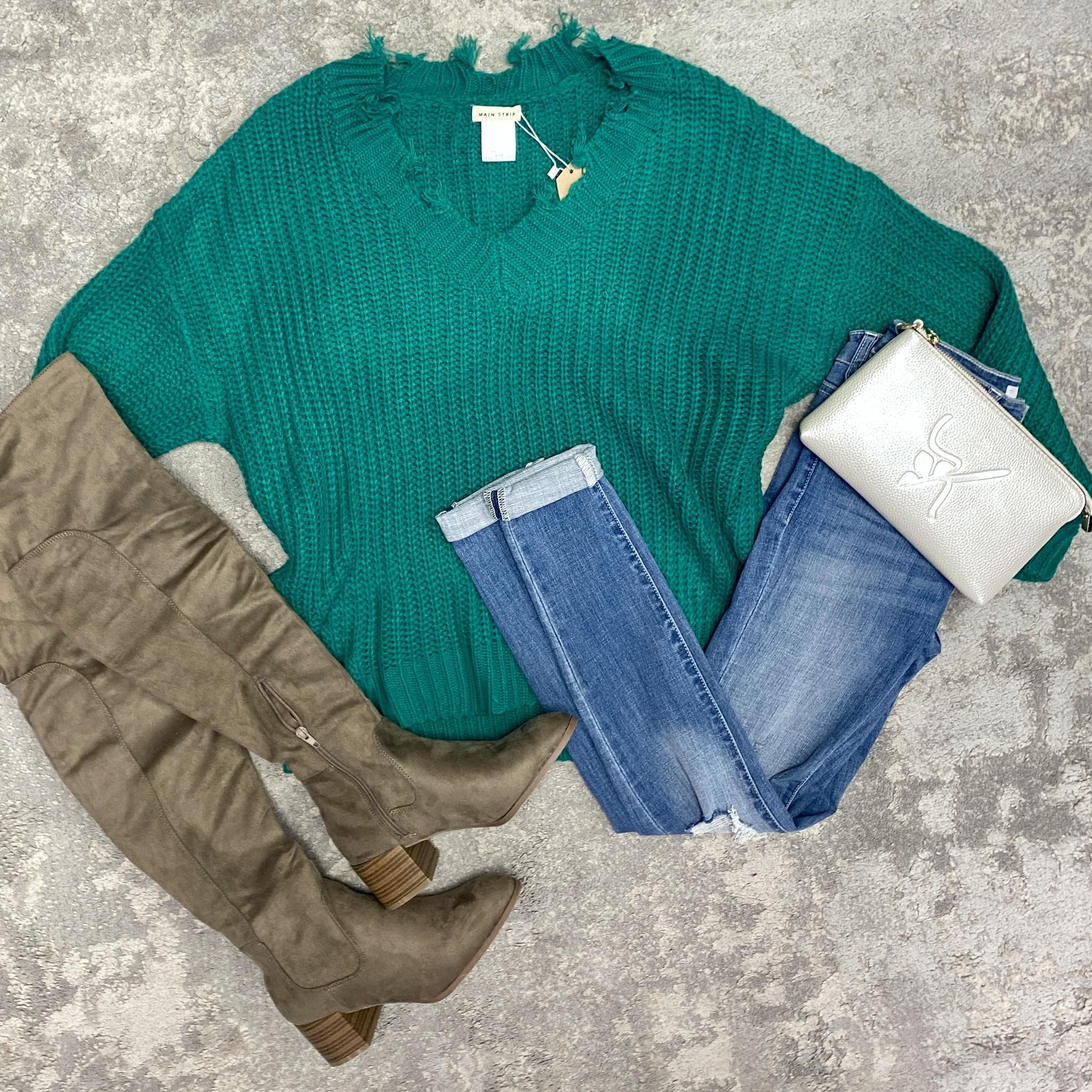 Green Grinch sweater
