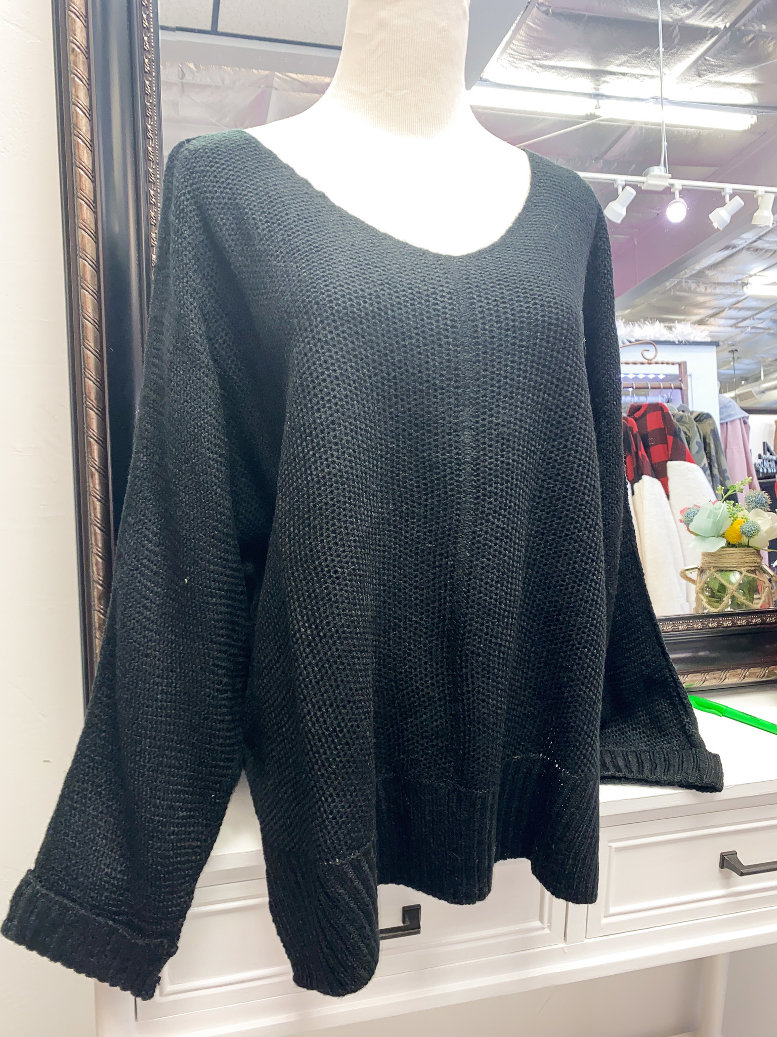 Hi and Low Rolled sleeve sweater