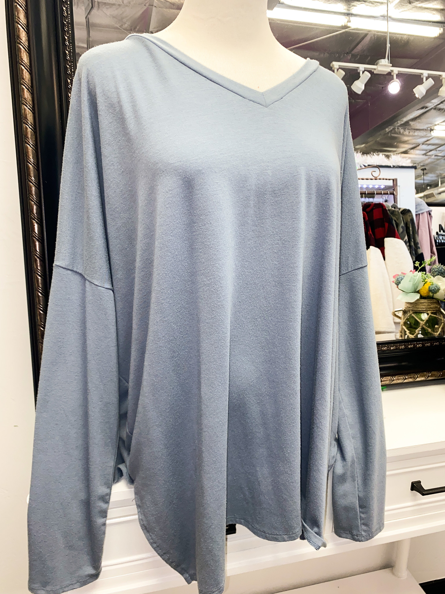 Cement LS Plus Dolman Sleeve Top