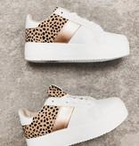 Tiffany White/Leopard Platform Sneaker