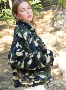 Bundle Me Up Camo Print Coat