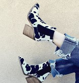 Cow print Black/White Bootie