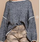 Take Me Away Vintage Black Sweater