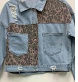 Finally Free Leopard Distressed Jacket