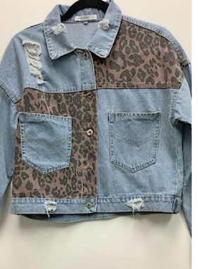 Finally Free Leopard Distressed Jacket