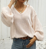 Never Ending Love Blush Knitted Sweater