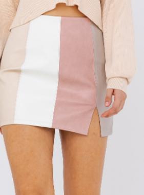 Blush Multi Colorblock Skirt