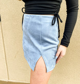 Night Out On The Town Suede Skirt (MORE COLORS)