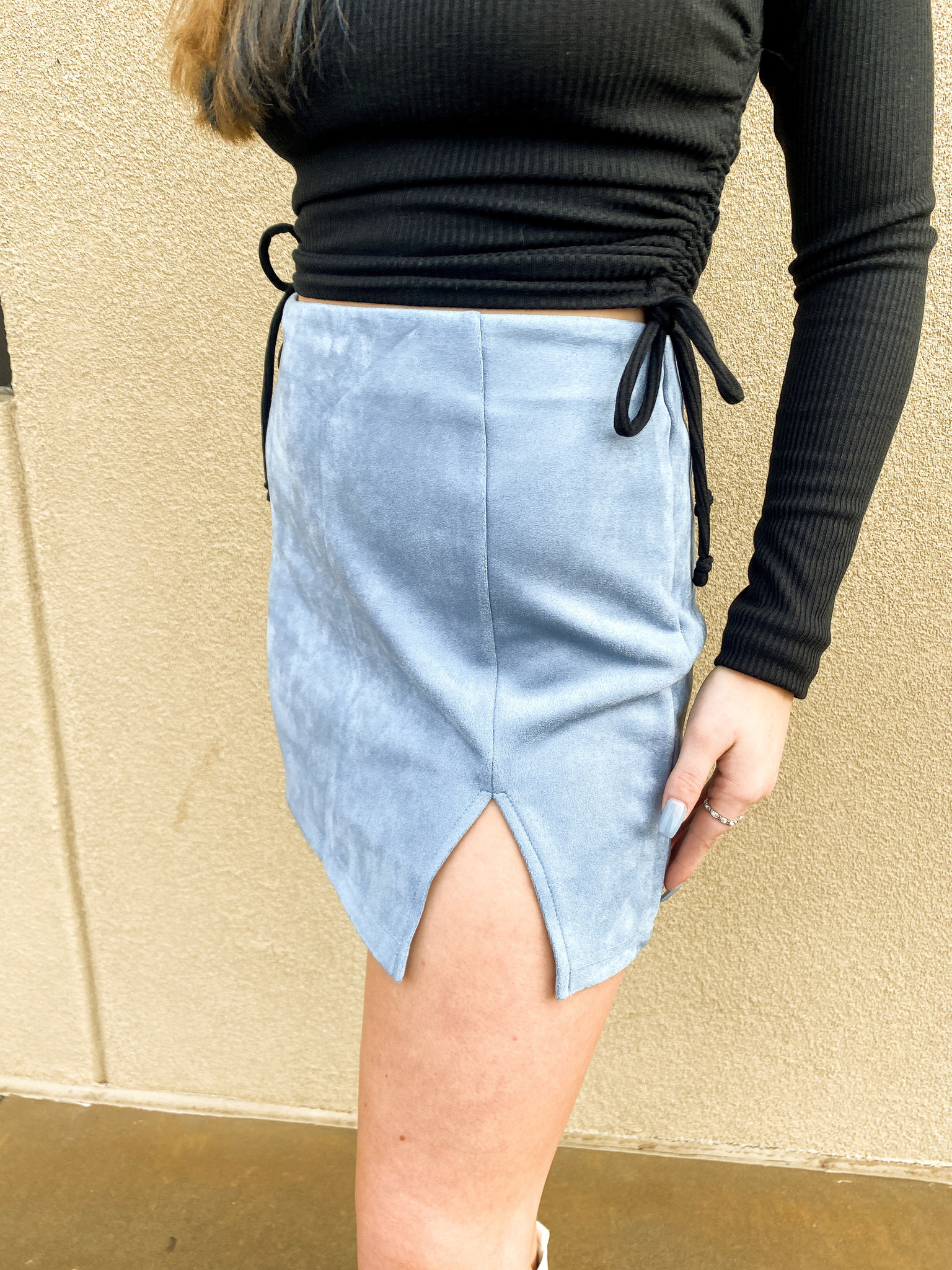 Night Out On The Town Suede Skirt