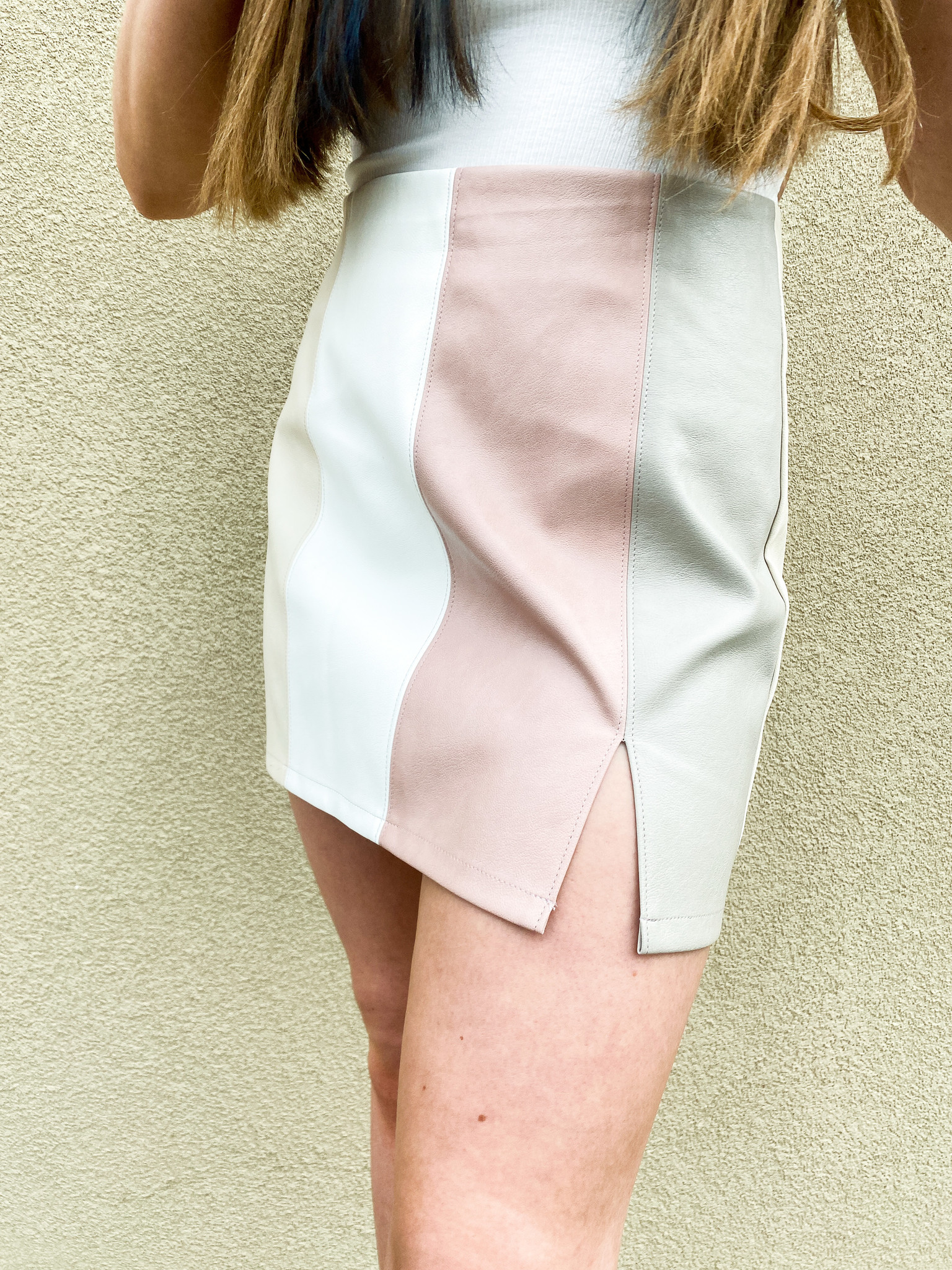 Blush Multi Colorblock Skirt