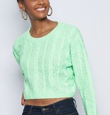 Let You Love Me Green Sweater