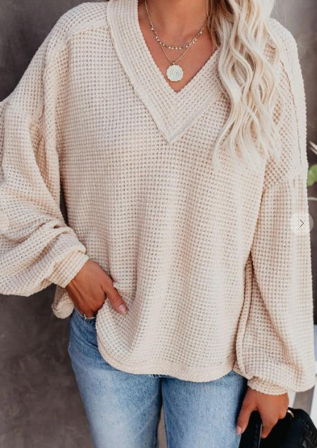 Comfy & In Love Waffle Knit Top (MORE COLORS)