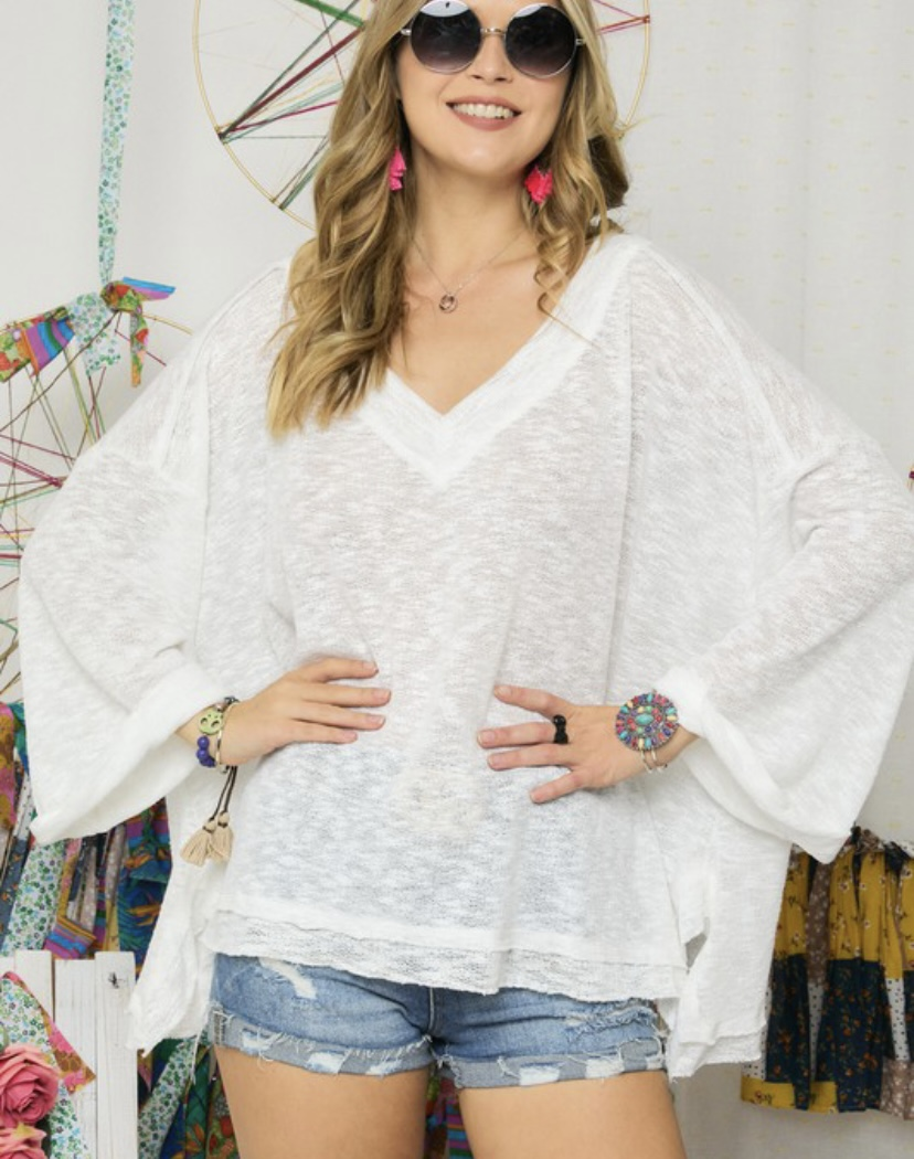 Can't Hold Me Back V-Cut Top (MORE COLORS)