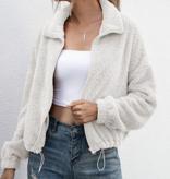 Snuggle Time White Sherpa Jacket
