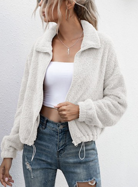 Snuggle Time White Sherpa Jacket