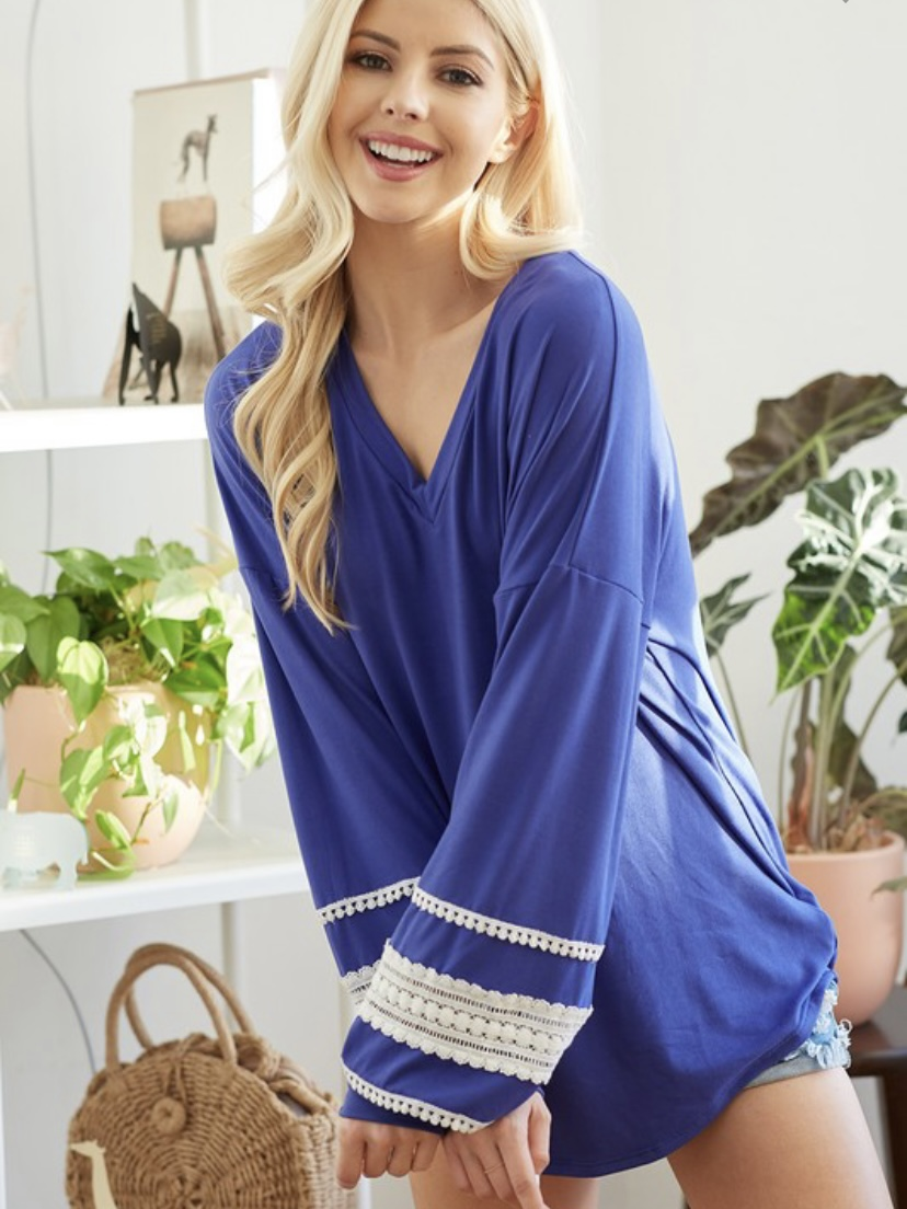 Lace and More LS Top (MORE COLORS)