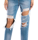 KanCan Med. Wash Distressed Boyfriend Jeans