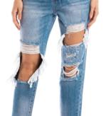 KanCan Med. Wash Distressed Boyfriend Jeans