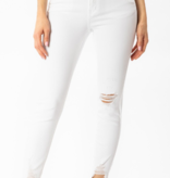 KanCan White Knee Distressed Jeans