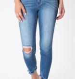 KanCan Med. Wash Asymmetrical Hem Jeans