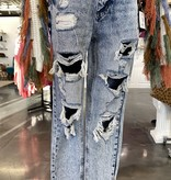 KanCan Med. Acid Wash Mom Jeans