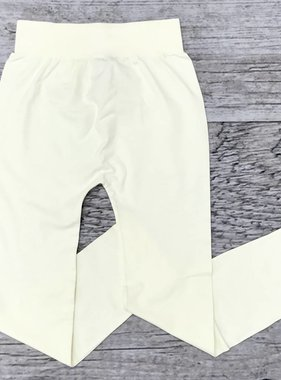 Cream Seamless Capri Leggings
