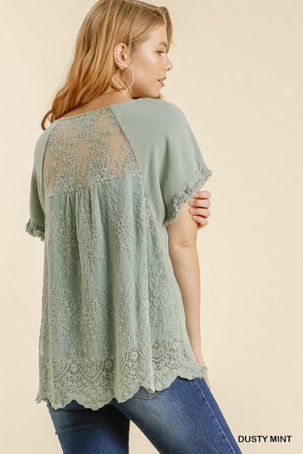 Leave Them In Love Mint SS Top