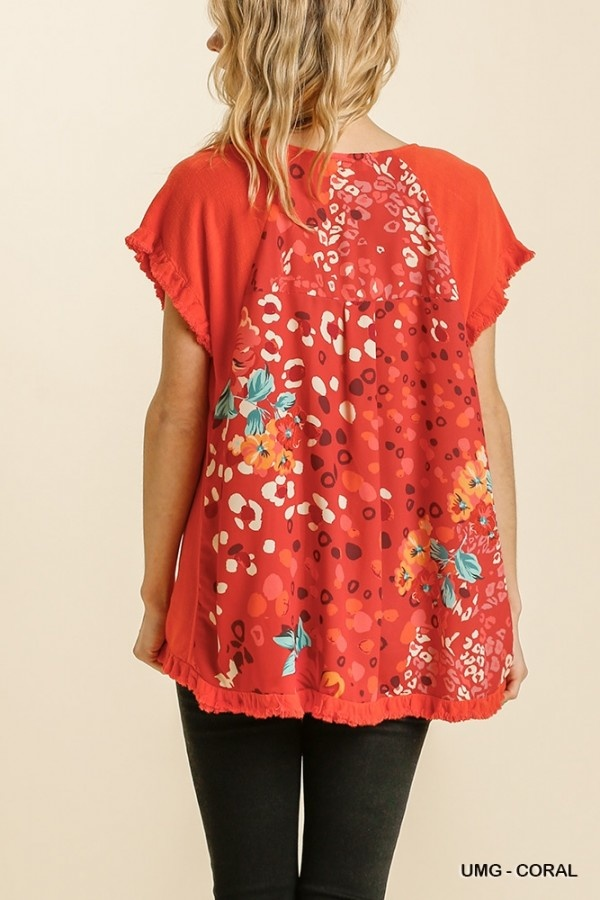 Time to Turn Heads Mixed SS Top (MORE COLORS)