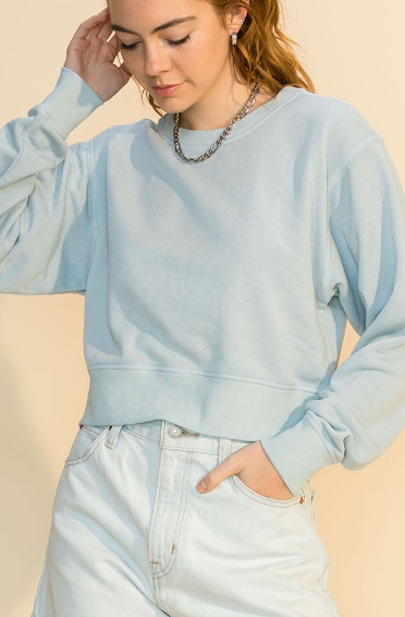 Late Summer Nights Cropped Sweatshirt (MORE COLORS)