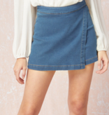 90's Throwback Lt. Denim Skort