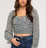 Needed You Here Smocked Crop Top (MORE COLORS)